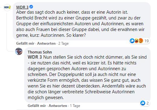 WDR Facebook Kommentar