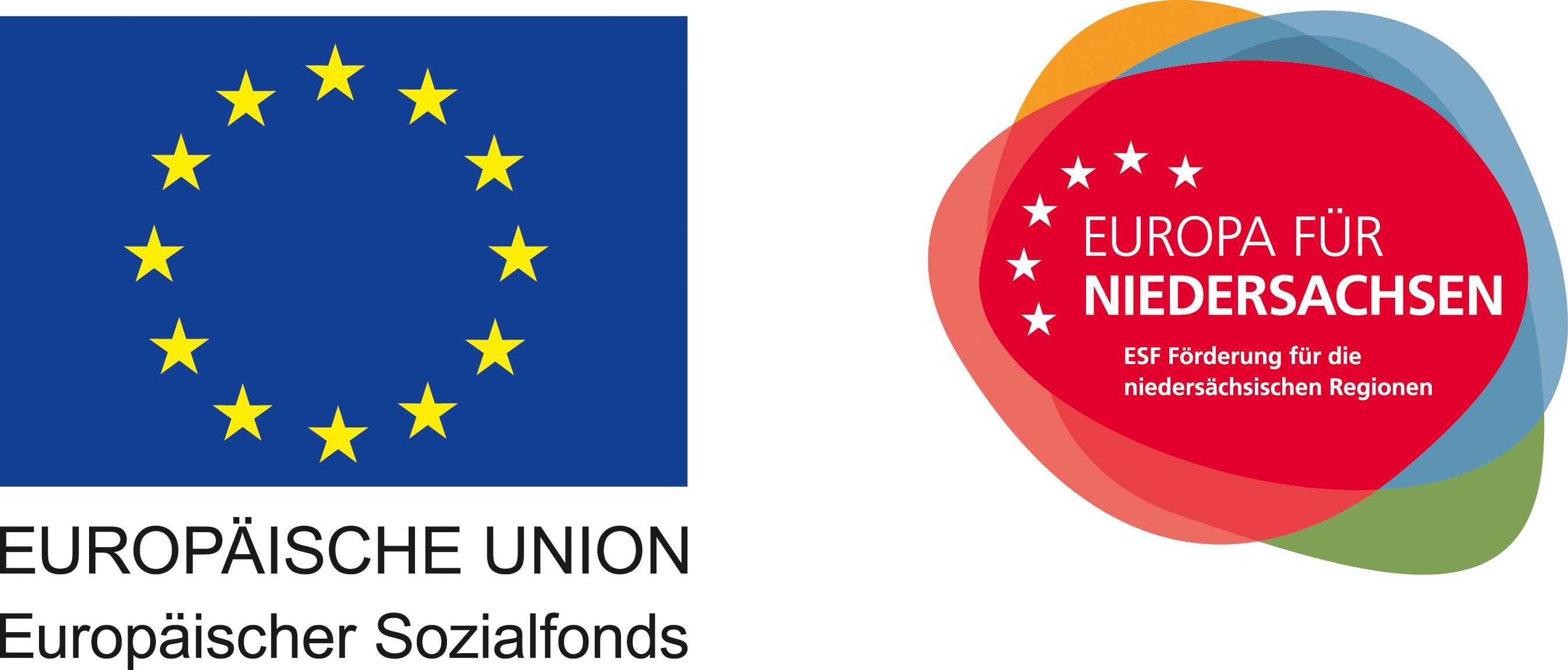 Logo und Label der europäischen Sozialfonds