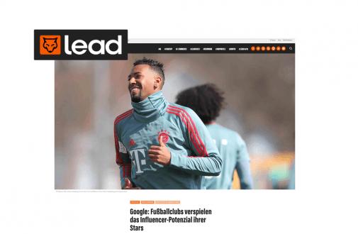 "Google: Fußballclubs verspielen das Influencer-Potenzial ihrer Stars – ""lead-digital.de"""