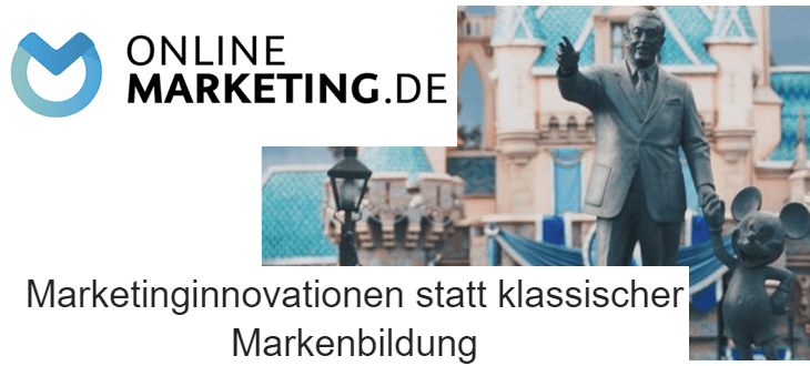 OnlineMarketing.de Marketinginnovationen statt klassischer Markenbildung OMK2019