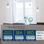 web-netz wieder ausgezeichnet: vier BVDW-Zertifikate für die Leistungen der Online-Agentur