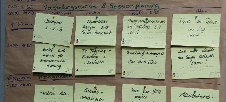 Sessionplanung 2016