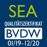 SEA BVDW Zertifikat 2019/2020