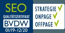 SEO BVDW Zertifikat 2019/2020