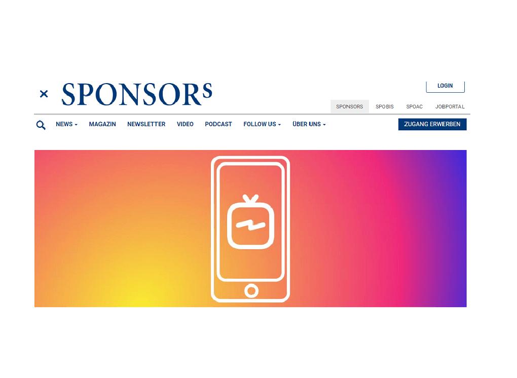 Sponsors IGTV