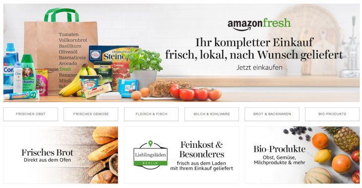 Screenshot Amazon Fresh