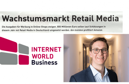 "web-netz Geschäftsführer Sebastian Loock zum Thema Wachstumsmarkt Retail Media – ""Internet World Business"""