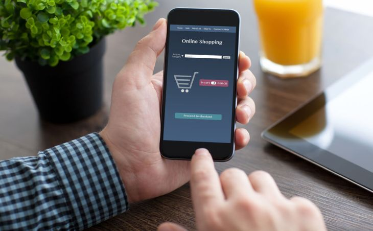 Online-Shopping via Smartphone