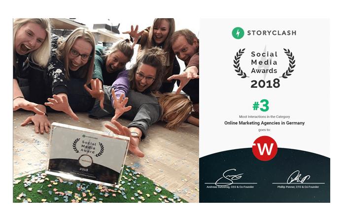 Die Social-Media Abteilung von web-netz greift nach dem Social-Media Awards Preis
