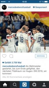 Sponsered Instagram Ad Mercedes