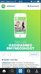 Sponsered Instagram Ad Adidas
