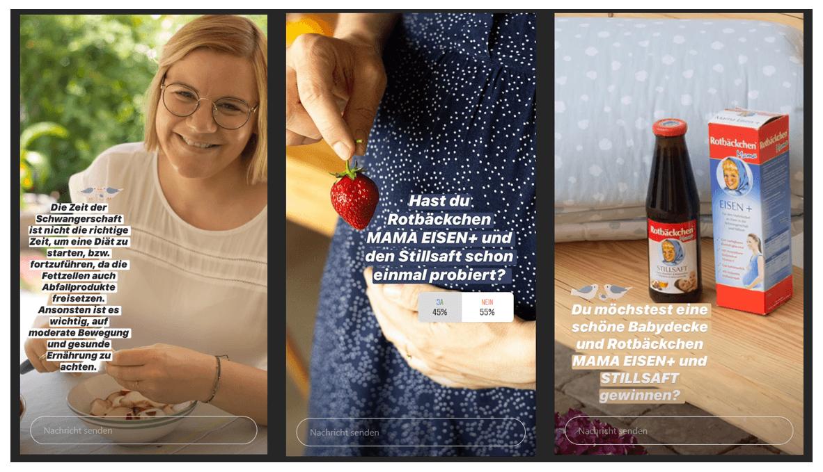 Story Ads der DM Glückskind Kampagne