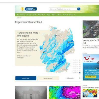 Beispiel Tui-Displayanzeige auf wetter.de