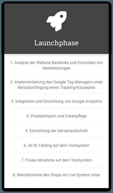 Shopware Launchphase Schritt für Schritt