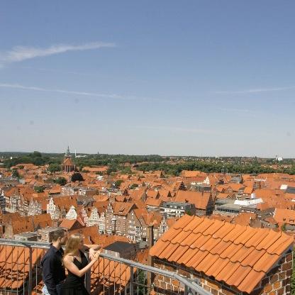 Der Ausblick von Wasserturm über Lüneburg