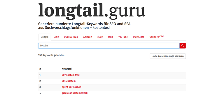Longtailguru Screenshot
