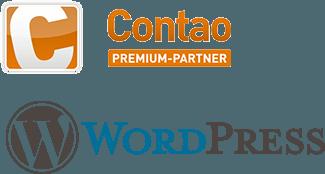 Contao und Wordpress Logo