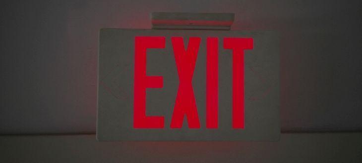 Exit-Türschild