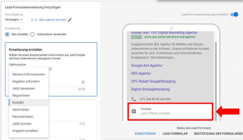 Screenshot Google Ads