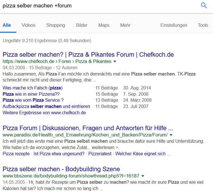 Google Suchoperatoren: Ein Plus zur Suche nach Foren