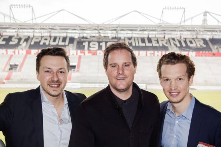 Gruppenfoto mit Felix Benckendorff, Oke Göttlich, Patrick Pietruck