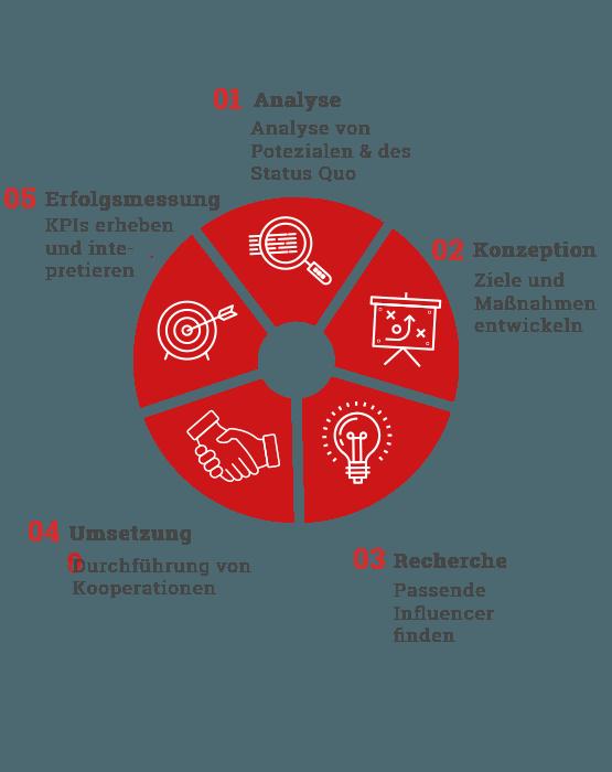 Tortendiagramm: Influencer-Marketing bei web-netz