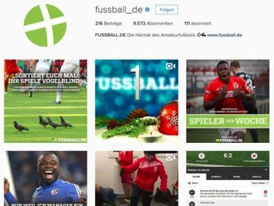 Screenshot Instagram-Kanal fussball.de