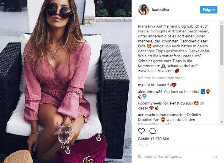 Instagram Reisepost von Luana Silva in Kroatien