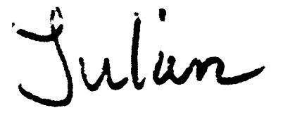 Unterschrift Julian