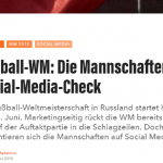 "web-netz sports – Fußball-WM: Die Mannschaften im Social-Media-Check – ""lead-digital.de"""