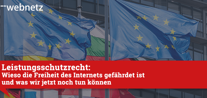 Statement web-netz zum Leistungsschutzrecht