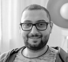 Mitarbeiterfoto von Maher Keder in Schwarz-Weiß