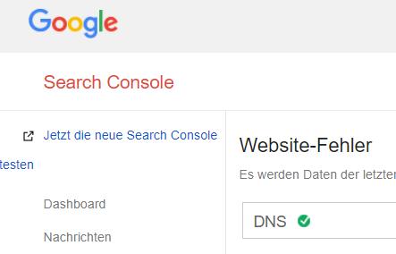 Link zur neuen Google Search Console