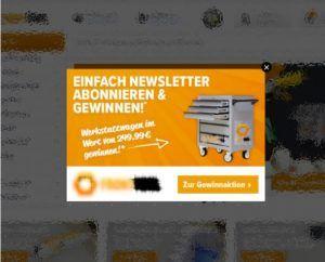 Screenshot: Newsletter-Adressen generieren