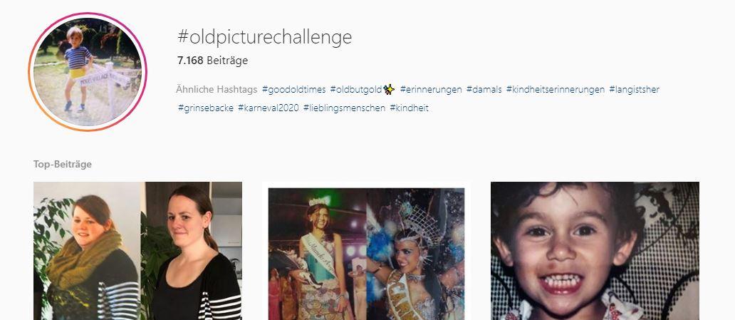Screenshot Instagram oldpicturechallenge