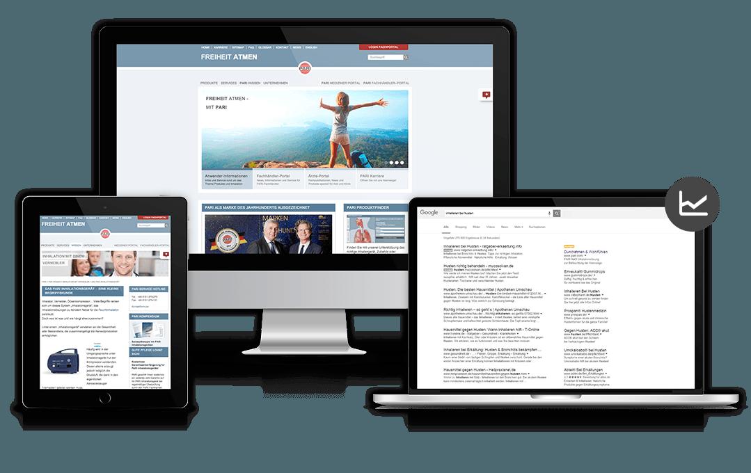 Website des Referenzkunden