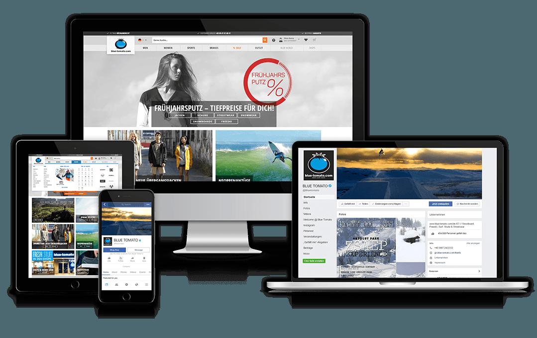 Website und Facebookseite des Kunden