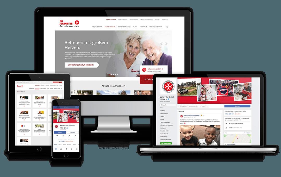 Website und Facebook-Seite des Referenzkunden