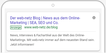 Screenshot responisve Google Ads