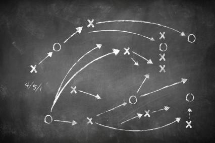 Beratungsprozess, symbolisiert durch Punkte, die mit Pfeilen verbunden sind
