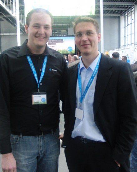 Sebastian Loock (re.) bei Partner Shopware