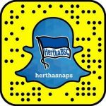 Screenshot Snapchat Hertha BSC