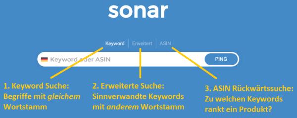 sonar-tool.com - Suchschlitz