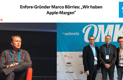 "Enfore-Gründer und OMK-Speaker Marco Börries im Interview – ""t3n"""