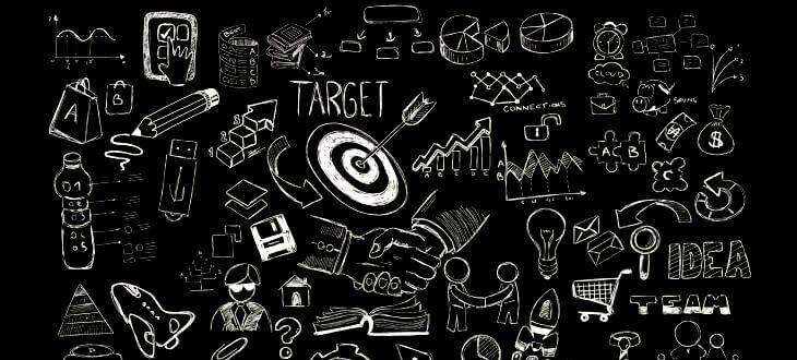 Target-Kreidezeichnung