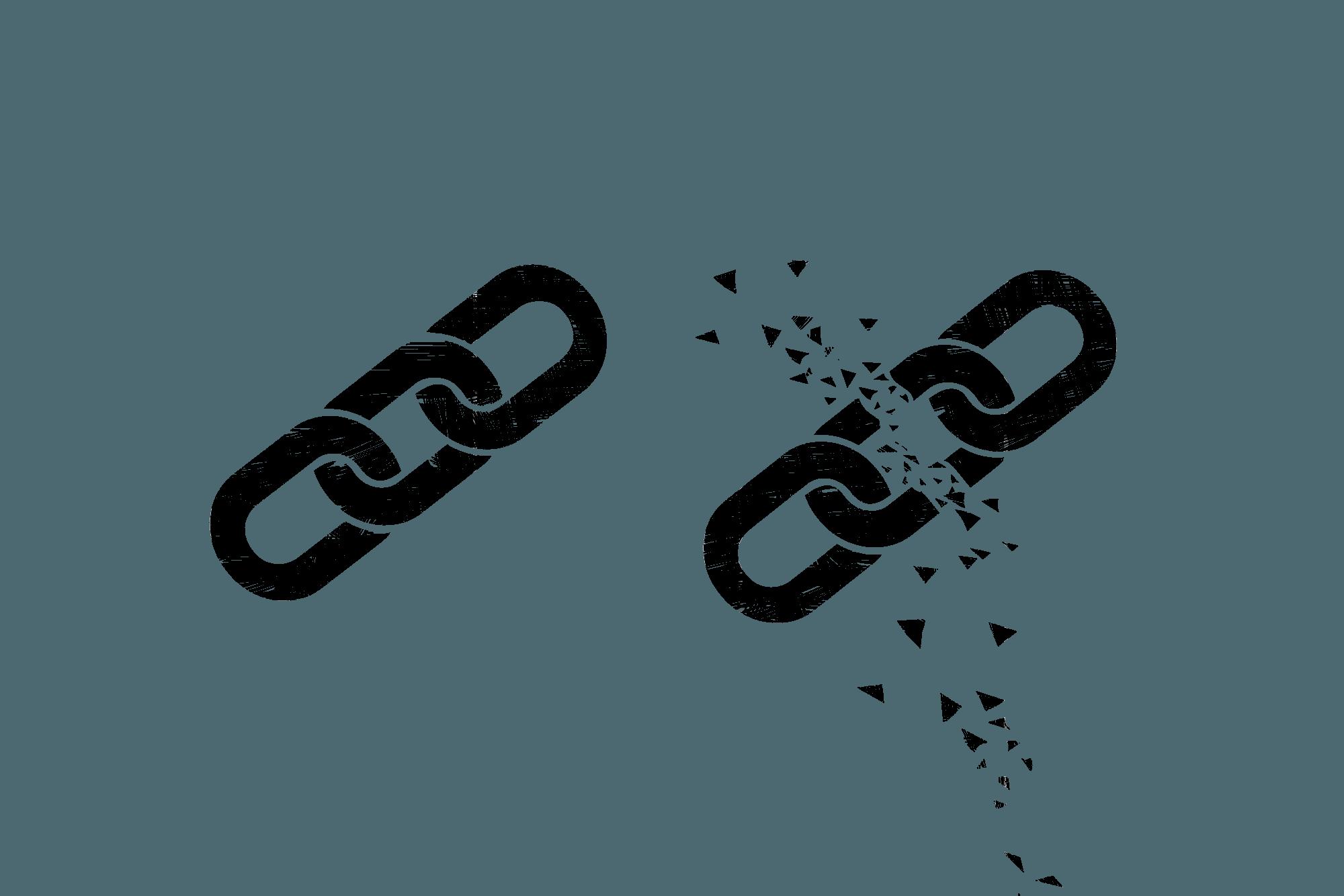 Kettenglieder symbolisieren die Verlinkung