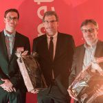 Sebastian Loock, Bernd Buchholz und Jürgen Enkelmann beim web-netz Neujahrsempfang 2018