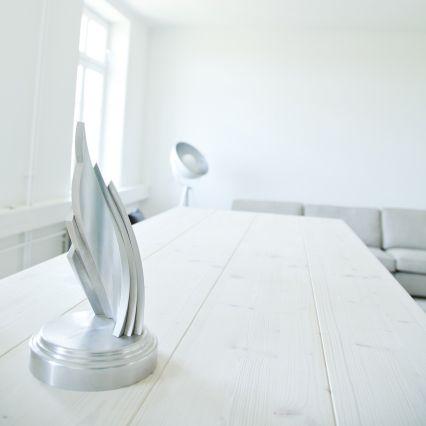 Ein Award steht bei web-netz auf dem Tisch