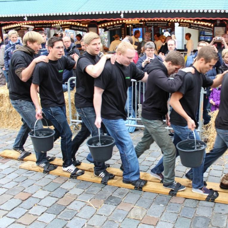 Wettspiel auf den Sülfmeistertagen in Lüneburg
