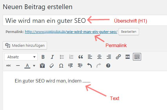 Artikel in WordPress optimieren